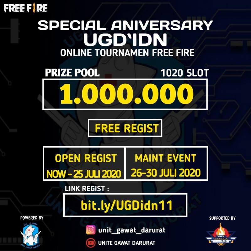 Free fire Community Tournament (FFCT) 27 juli - 2 agustus