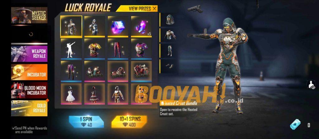 Daftar hadiah duo royale