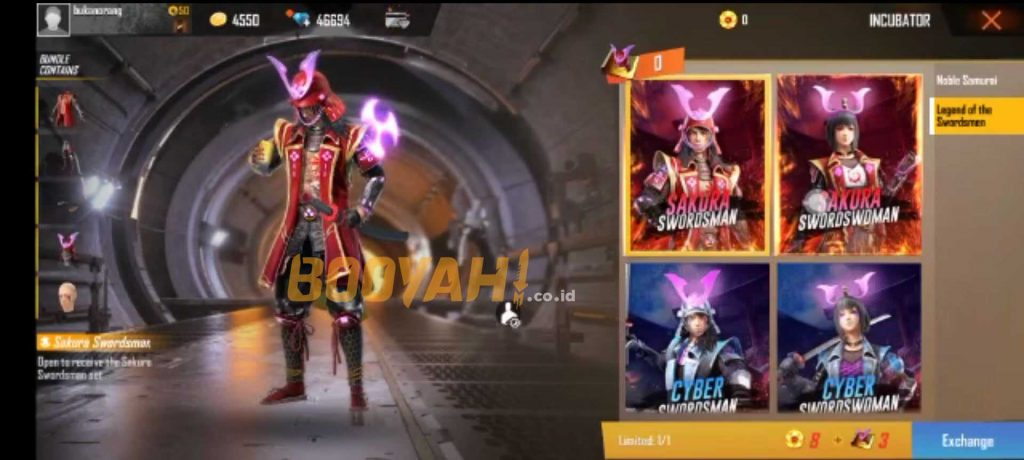 Tampilan Bundle Swordsman Legends