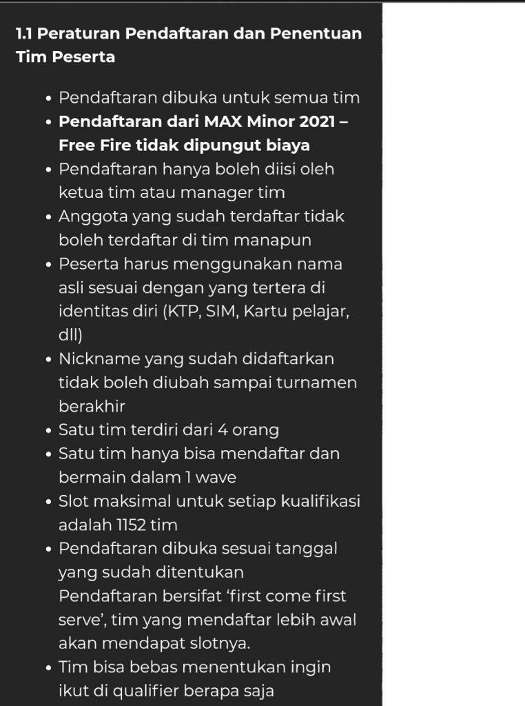 turnamen max minor2021 2